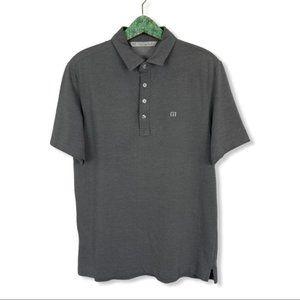 Travis Mathew Polo Shirt Tee Medium Gray